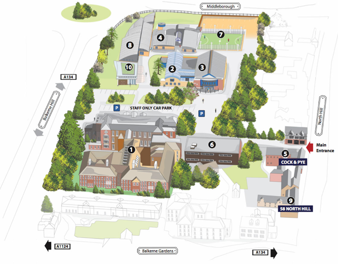 The Sixth Form College Colchester Campus Map